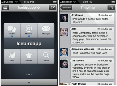 Icebird Twitter client