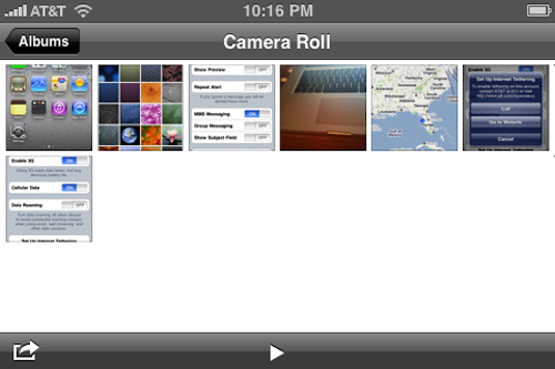 iPhone Os 4 beta 4 camera roll feature