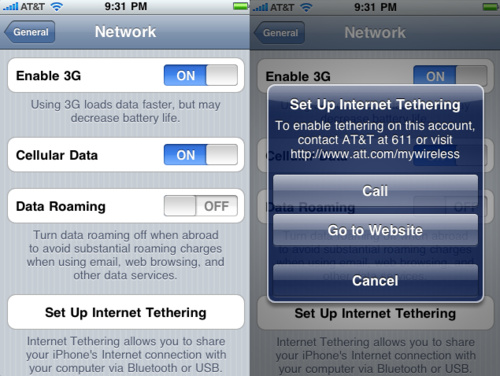 iPhone OS 4.0 Internet Tethering
