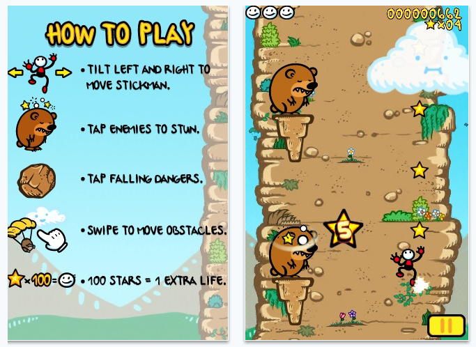stickman rocks iPhone game