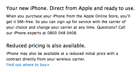iPhone 4 unlocked in uk