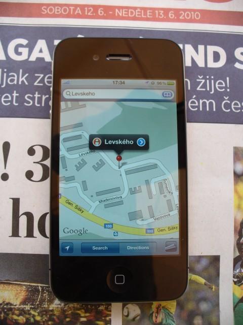iPhone in czech
