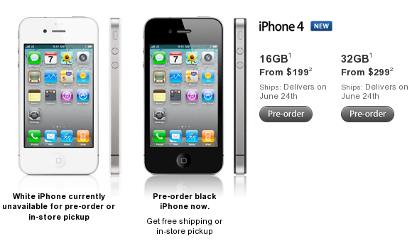 iPhone 4 is available for preorder