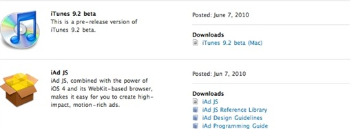 iTunes 9.2 beta available for download