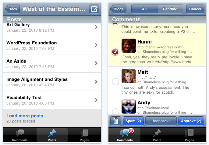 wordpress app adds support for iOS 4