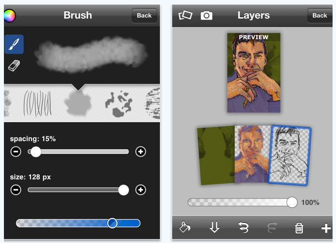 brushes iPhone app review