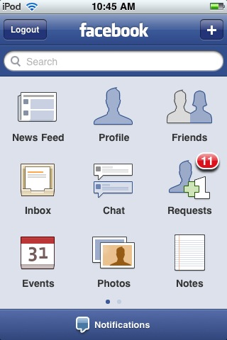 Facebook for iPhone updated