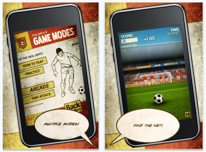 flick kick football iPhone game