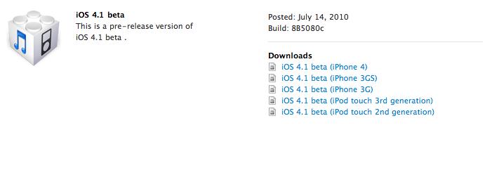 iOS 4.1 sdk