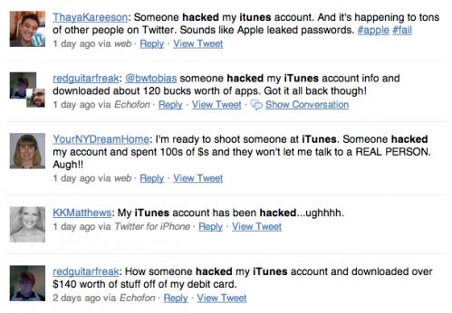 itunes account hacked