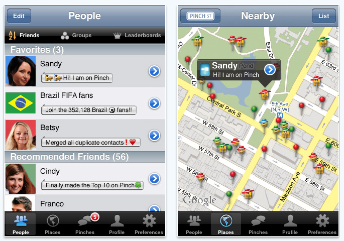pinch iPhone app review