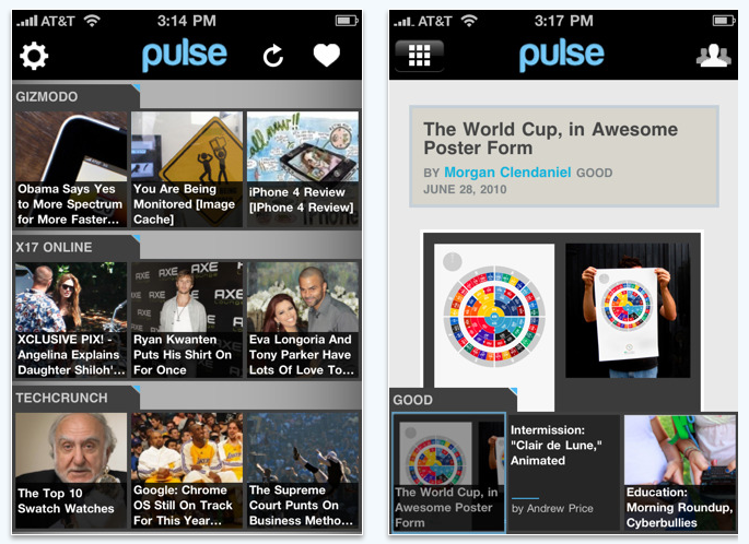 Pulse for the iPhone