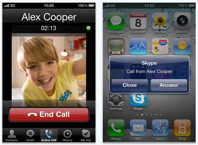 skype iphone app with multitasking