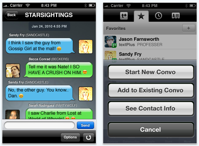 textplus for iPhone