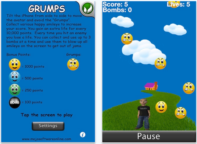 grumbs iPhone app