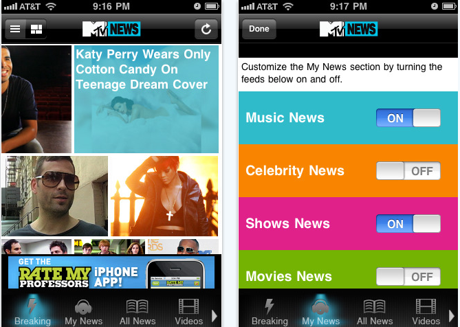 MTV News iPhone app review