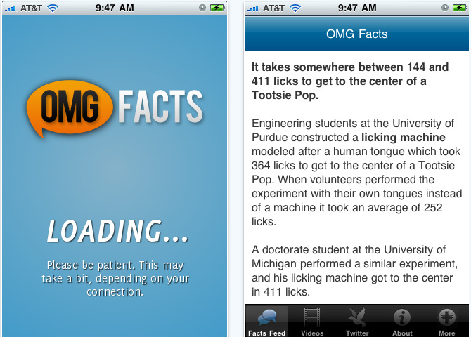 OMG facts iPhone app review
