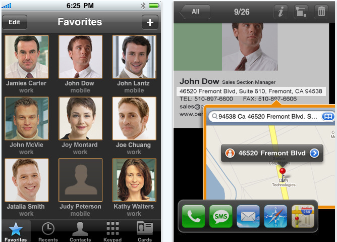 WorldCard contacts iPhone app review