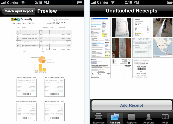 expensify iphone app