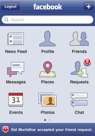facebook for iPhone version 3.2