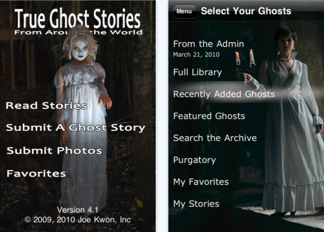 True ghost stories iPhone app review