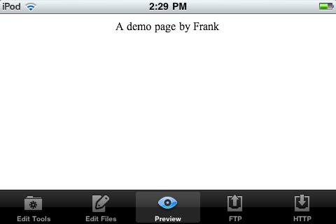 html writer iPhone app review