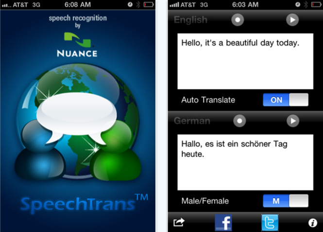 speechtrans iPhone app review