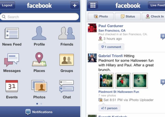 facebook 3.3.1 iOS app