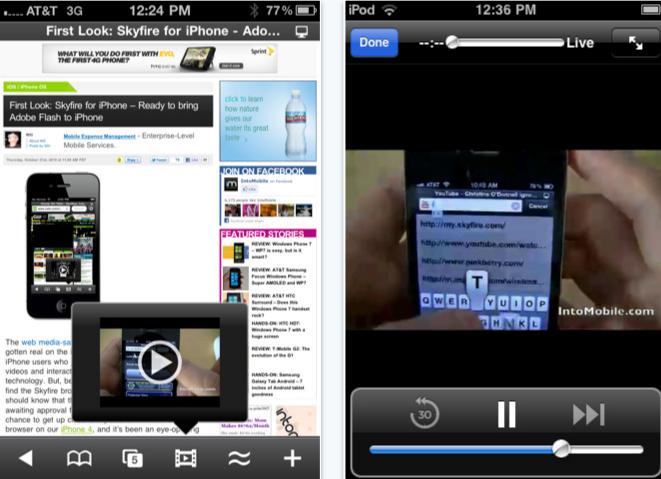 skyfire iPhone app