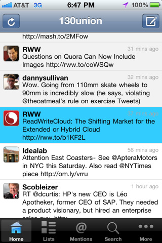 ubertwitter for iPhone