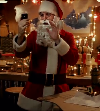 iPhone 4 ad with Santa