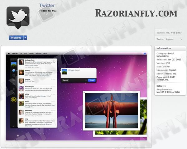 Official Twitter App For Mac App Store