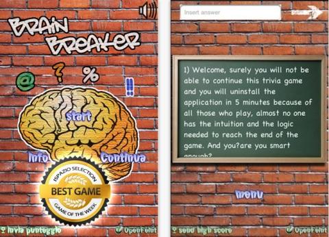 BrainBreaker App Screenshot