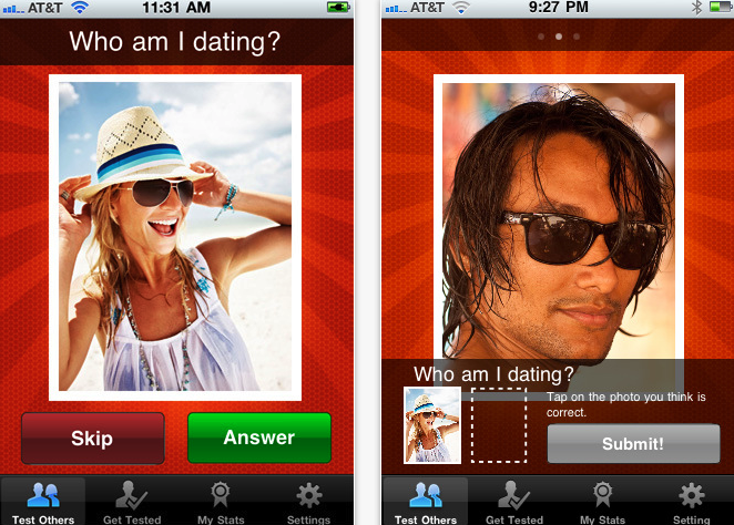 Relationship Tester App Screenshot