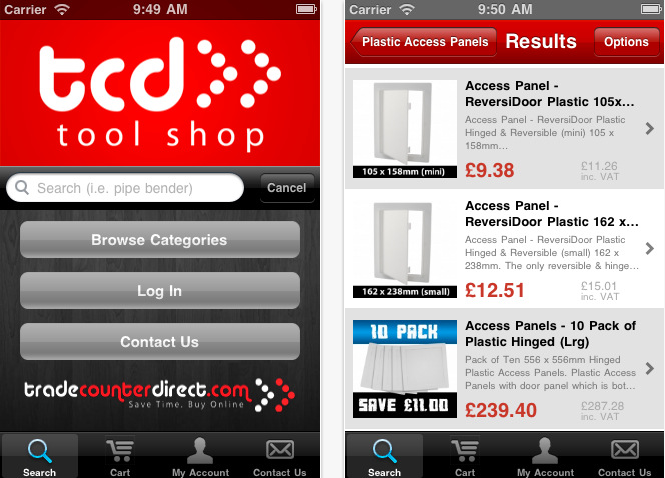 TCD Tool Shop App Screenshot