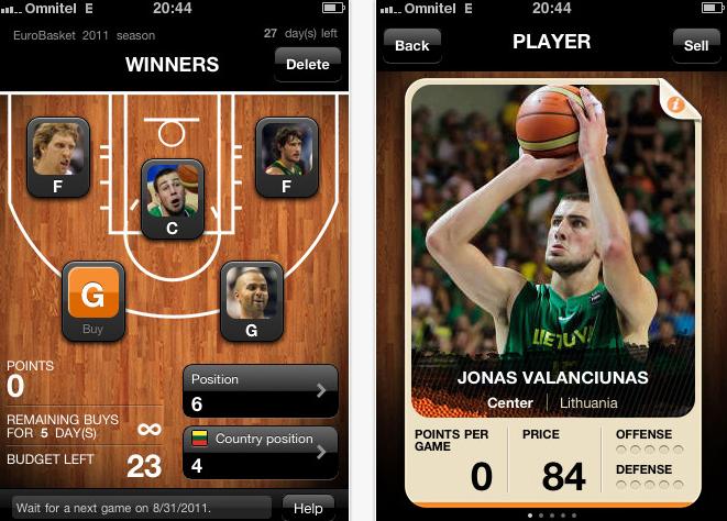 EuroBasket Cards