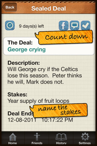 Deals with Seal It Free iPhone app