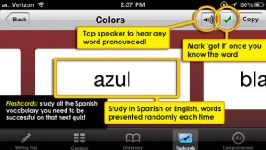 Spanish App for iPhone