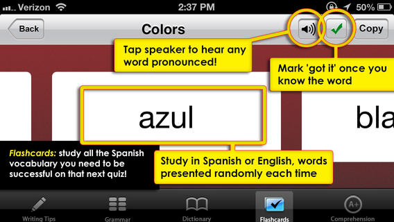 Spanish School iPhone App