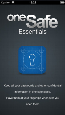 oneSafe Essentials-Protect Your Account Details
