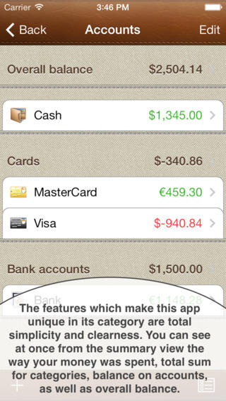 Budget Manager App for iPhone