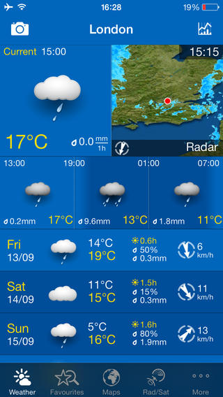 Weather App for iPhone