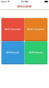BMI & BMR Generator App