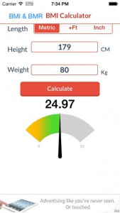 BMI Calculator for iPhone