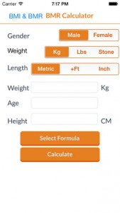 BMR Calculator for iPhone