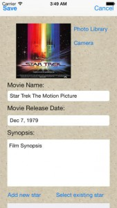 iPhone Movie Catalogue App
