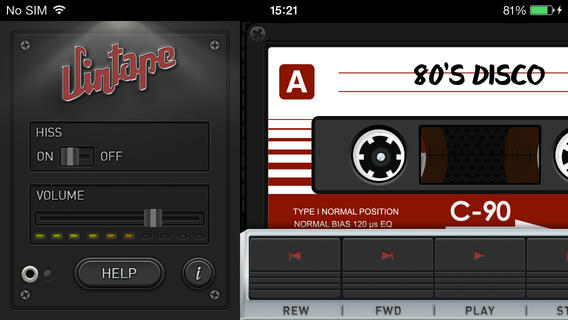 Vintage Cassette Tape App