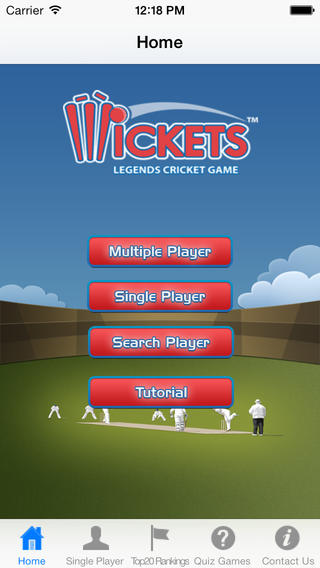 Cricket Wickets App iPhone