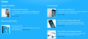 Broken Phone Contest Prizes