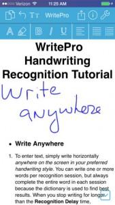 WritePad Pro for iPad